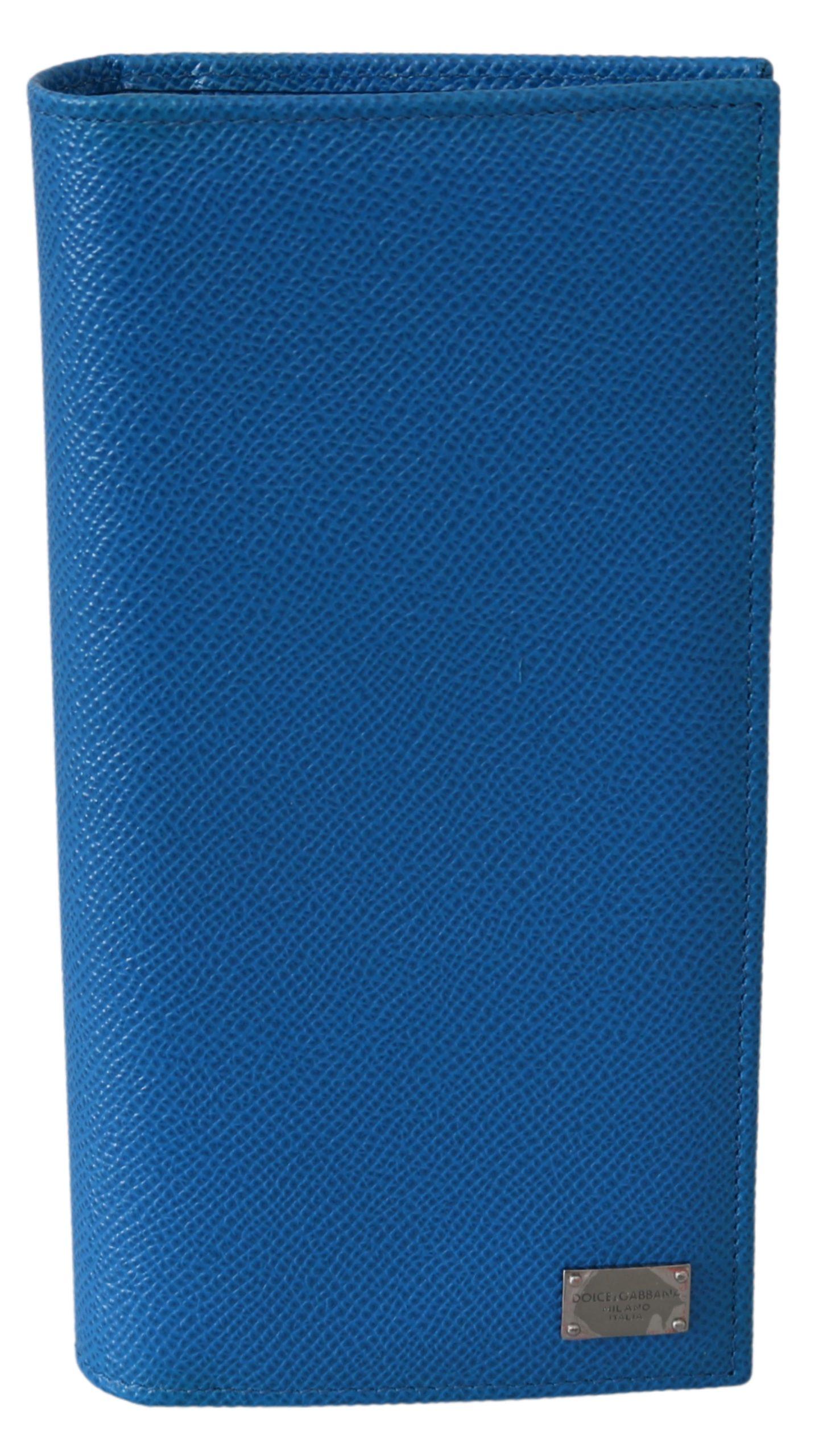 Dolce & Gabbana Men's Solid Bifold Card Holder Leather Wallet White VAS9579