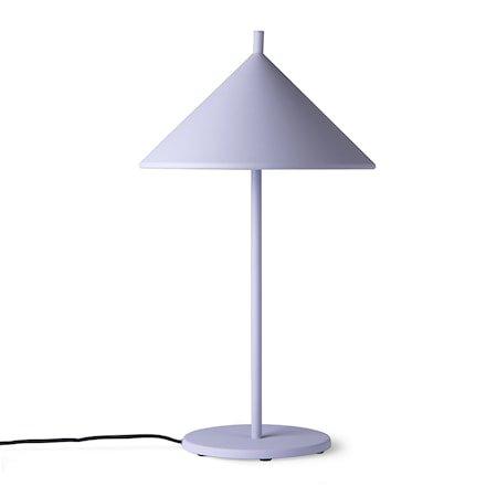 metal triangle table lamp M matt lilac