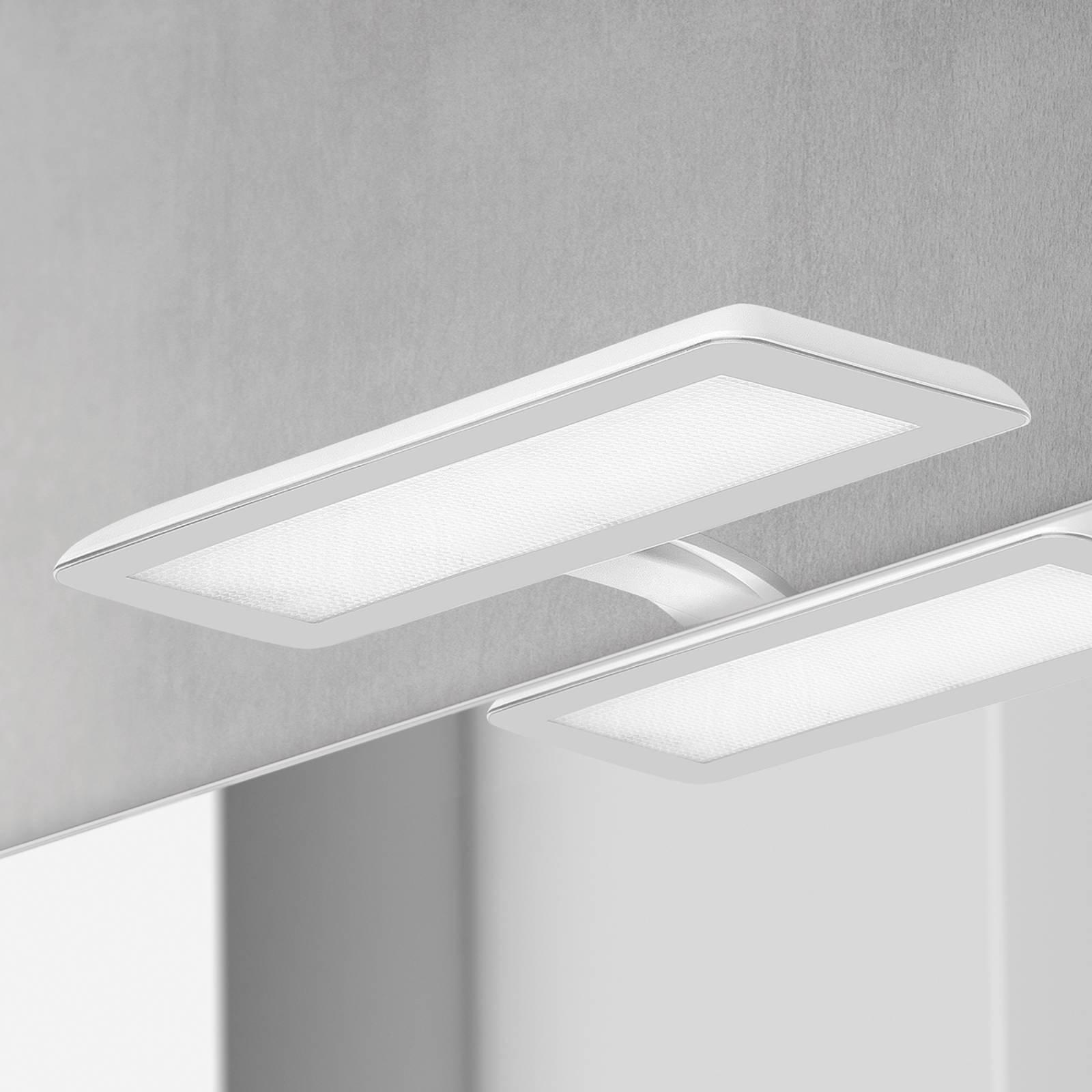 LED-speillampe Nikita, hvit/stålgrå