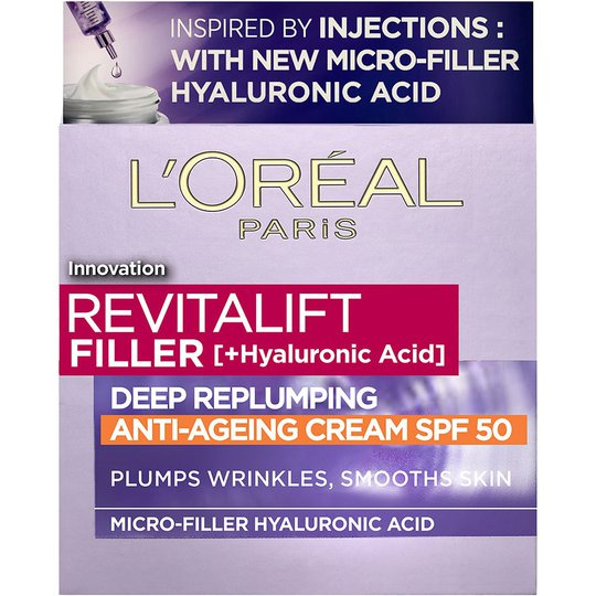 Revitalift Filler [+Hyaluronsyra] Repluming Daycream, 50 ml L'Oréal Paris Päivävoiteet