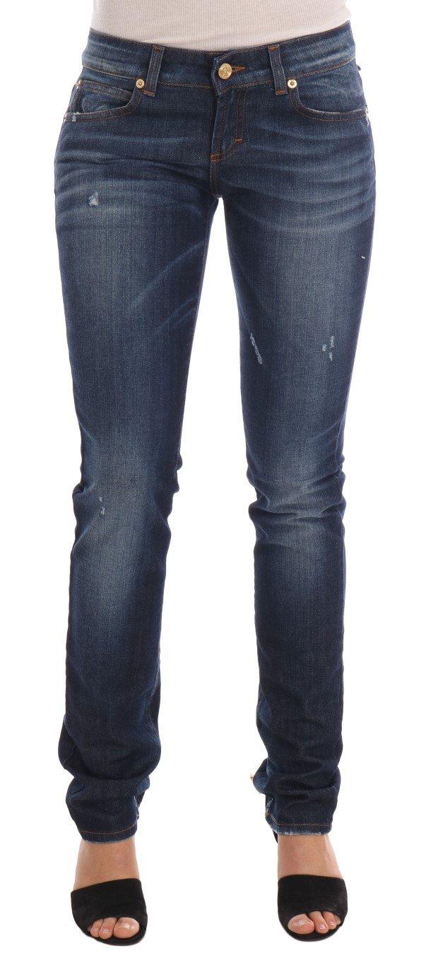 John Galliano Women's Cotton Stretch Skinny Jeans Blue BYX1171 - W30