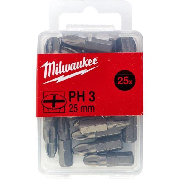 Milwaukee PH3 Ruuvikärki 25 kpl:n pakkaus 25 mm