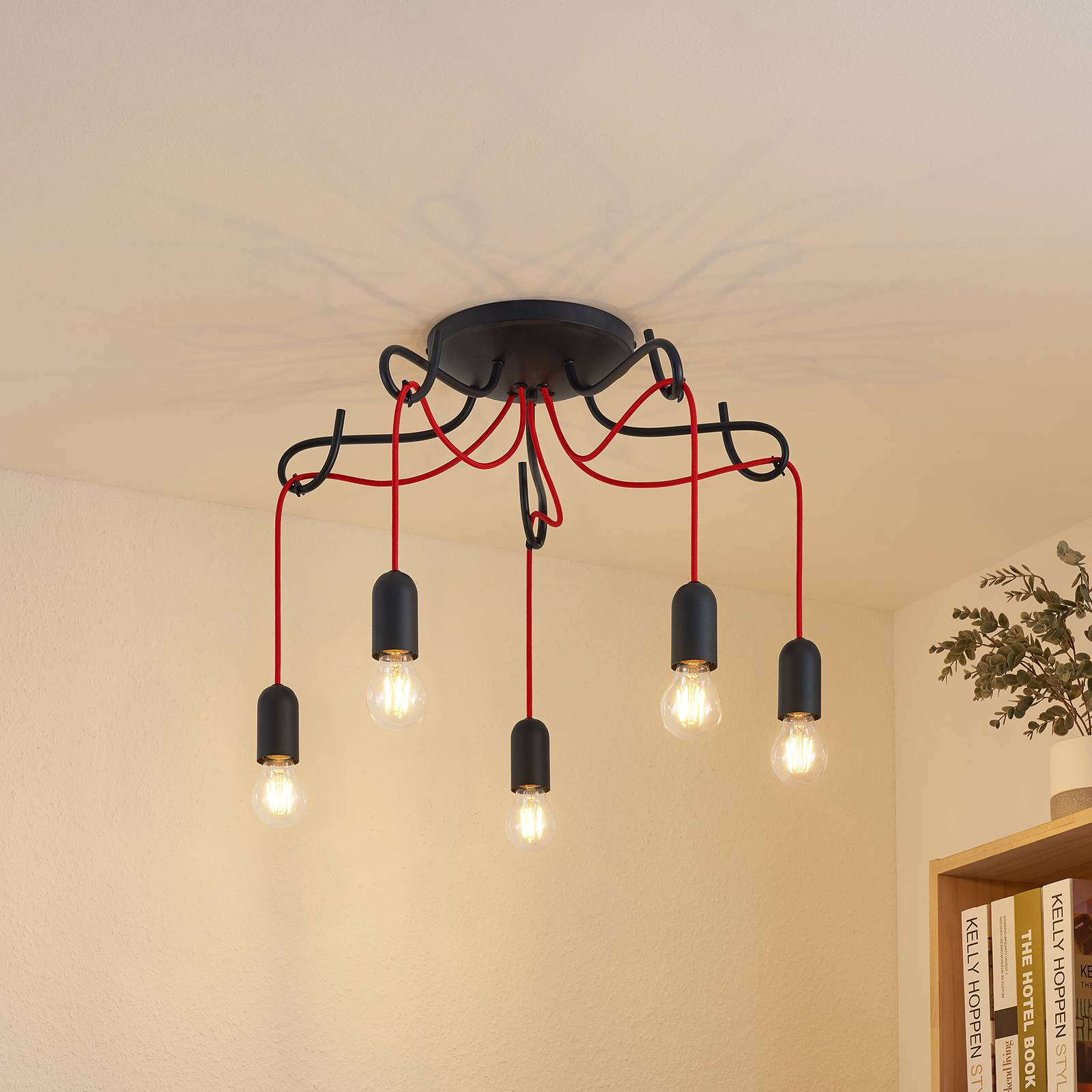 Lucande Jorna -kattovalaisin, 5-lamppuinen