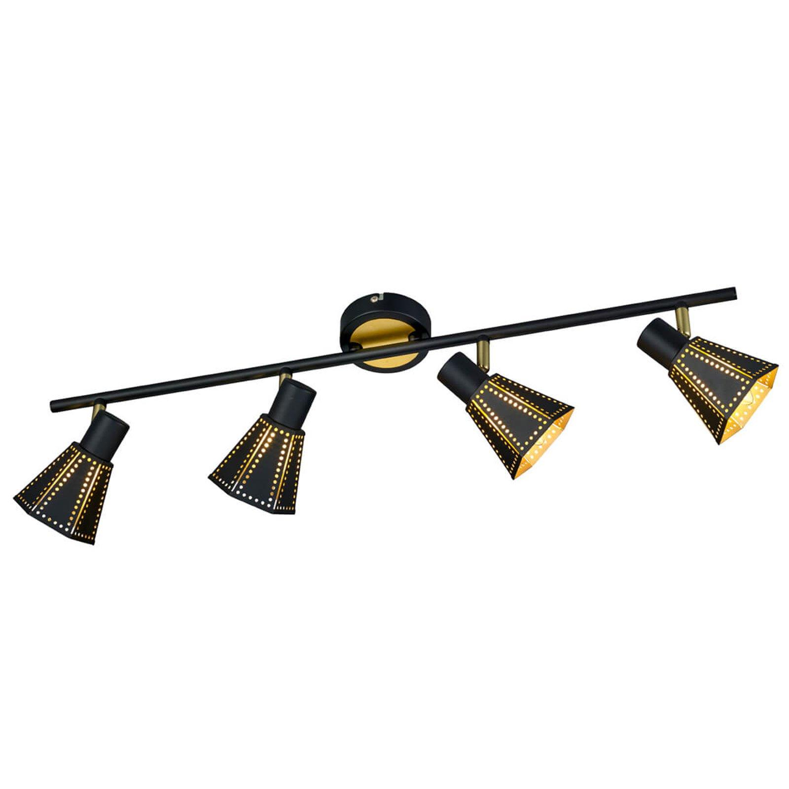 Trendy taklampe Houston, 4 lyskilder