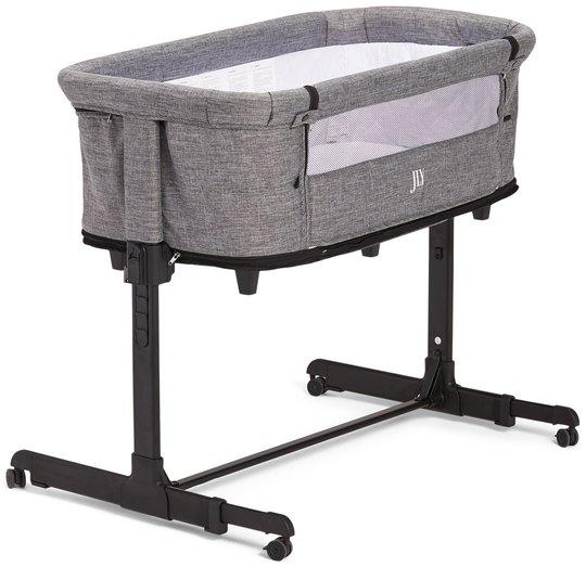 JLY Future 2in1 Bedside Crib, Mørkegrå