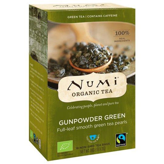 Numi Organic Tea Gunpowder Green, 18 påsar