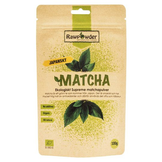 Rawpowder Ekologiskt Matchapulver Supreme, 100 g