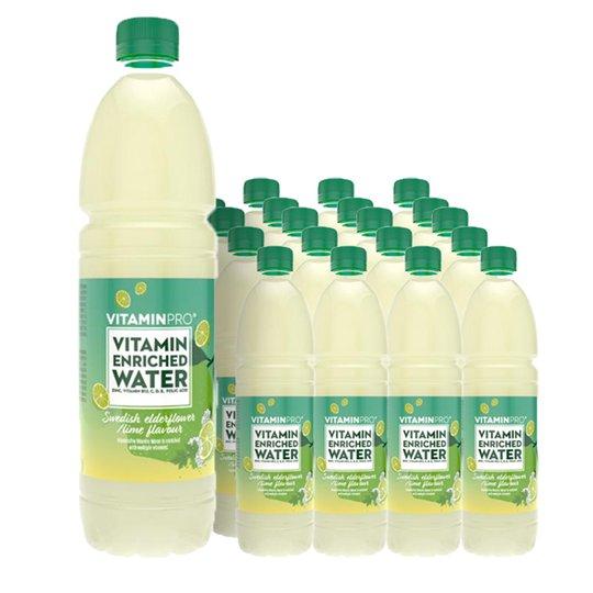 Vitaminvatten Lime & Fläder 24-pack - 65% rabatt