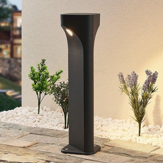 Lucande Valdeta -LED-pollarilamppu, korkeus 50 cm