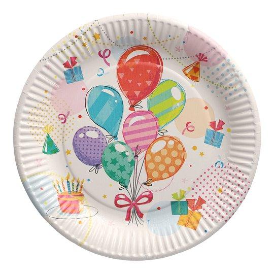 Papperstallrikar Födelsedagskalas - 10-pack