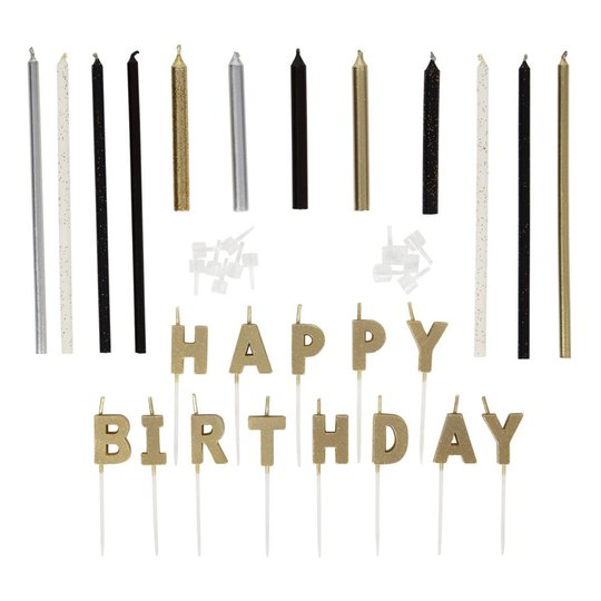 Wilton Tårtljus Happy Birthday Kit - 25-pack