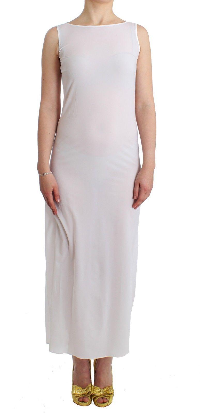 Ermanno Scervino Women's Maxi Dress Kaftan Full White SIG11511 - IT42 | S