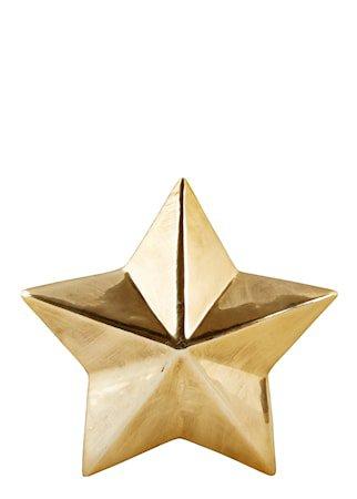 Figur Stjerne Gull 12x12 cm