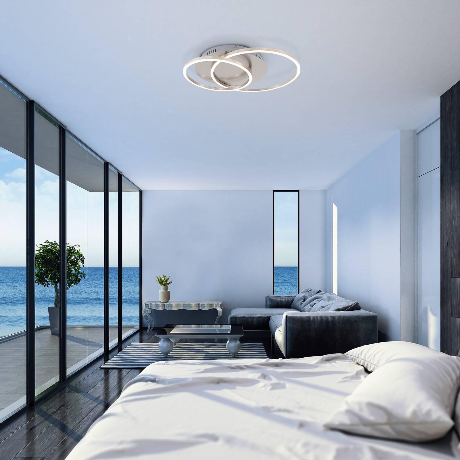 LED-kattovalaisin Frames, 2 rengasta, kääntyvä