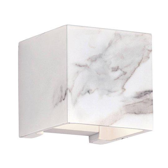 Davos utendørs LED-vegglampe marmor hvit