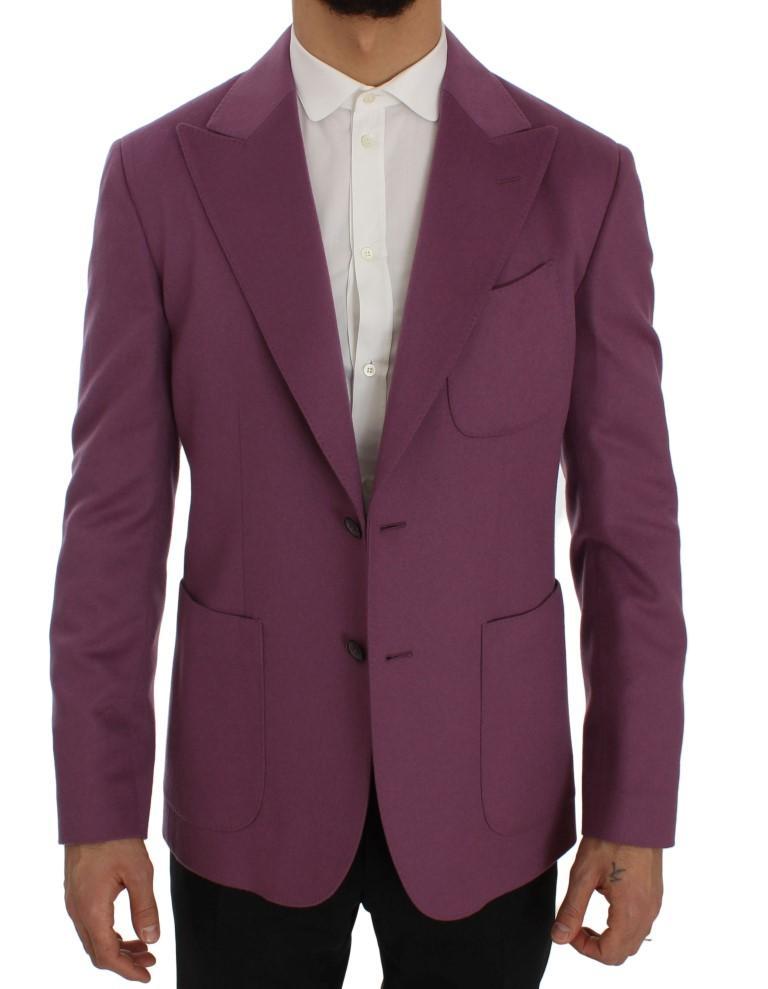 Dolce & Gabbana Men's Cashmere Slim Fit Blazer Purple SIG50054 - IT44 | XS