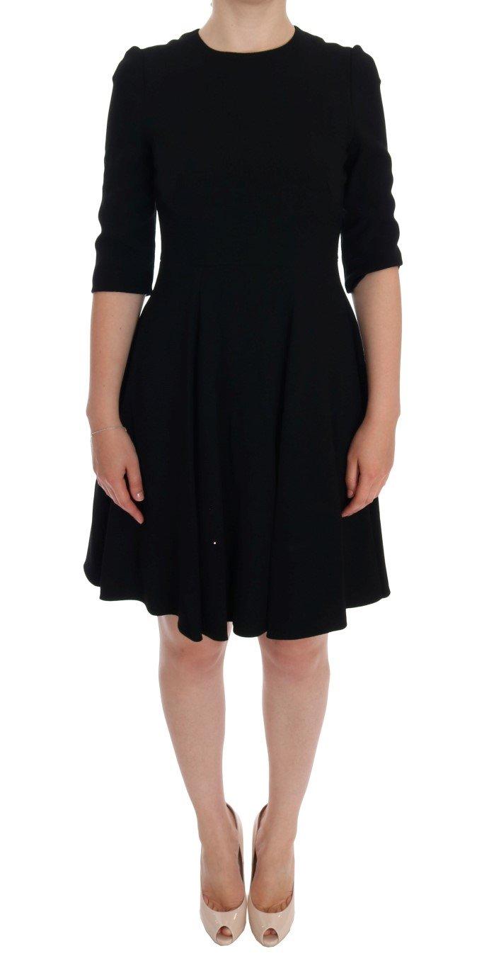 Dolce & Gabbana Women's Viscose Shift Dress Black DR996 - IT40|S