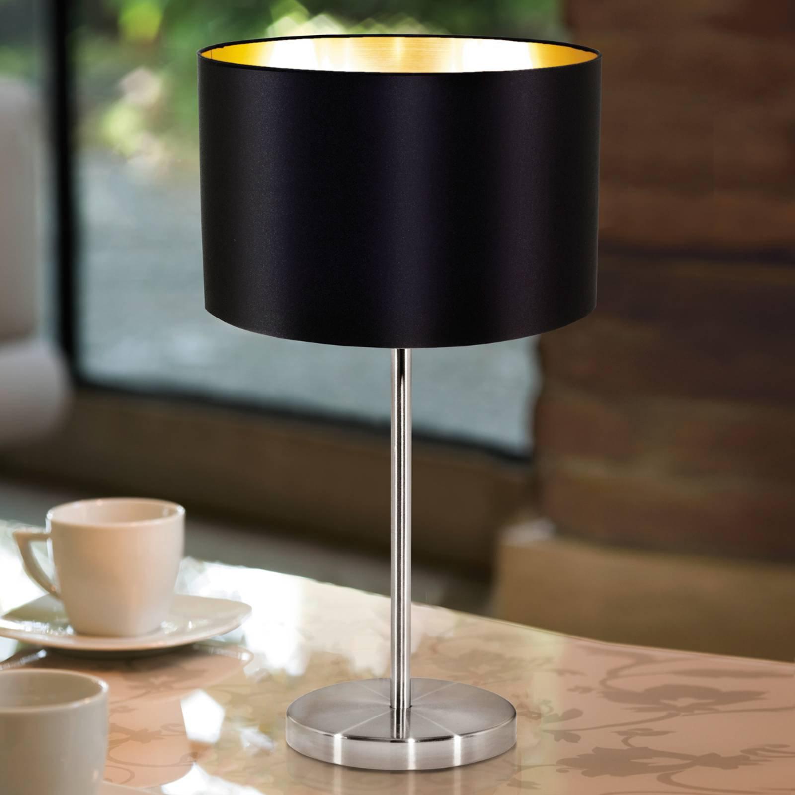 \Enkel stoffbordlampe Lecio