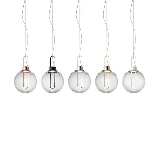 Modo Luce Orb LED-hengelampe, messing, Ø 25 cm
