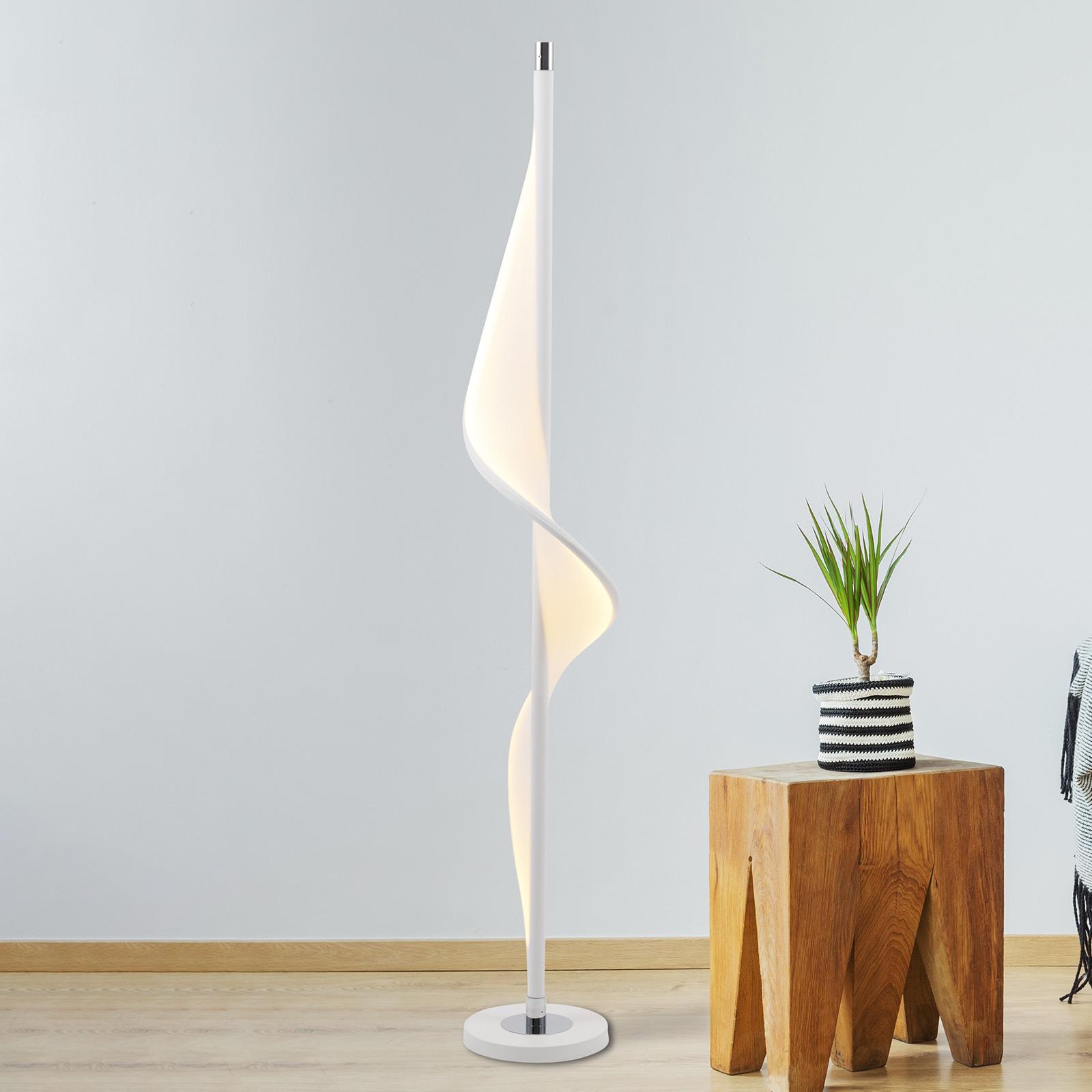 Aaltomainen Bandera-LED-lattiavalaisin
