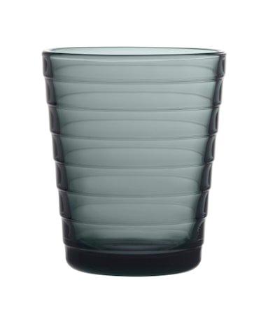 Aino Aalto Glass 22 cl mørkegrå 2 stk.