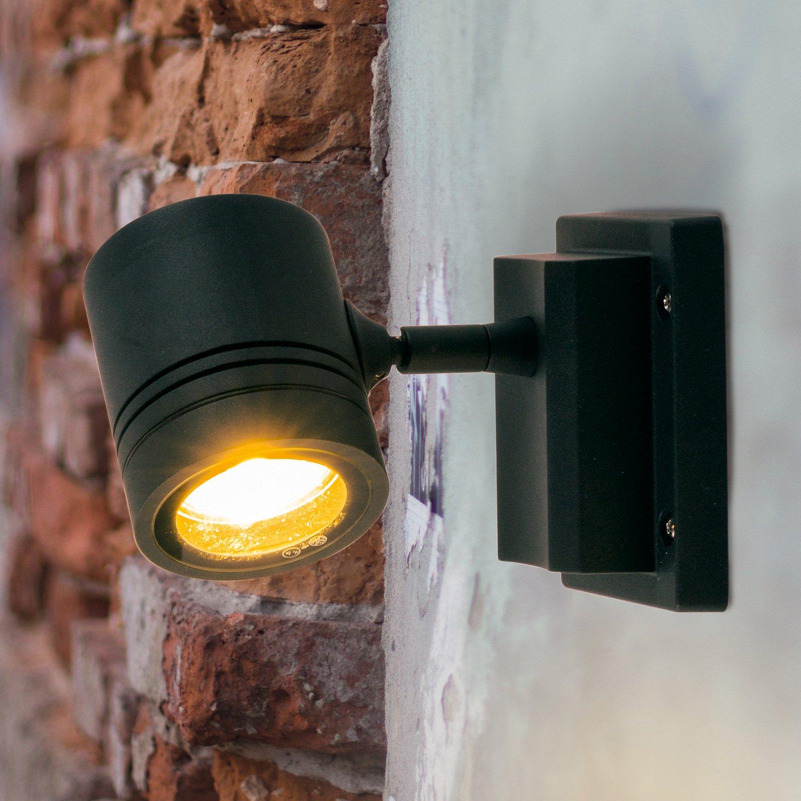 Utendørs vegglampe Borneo 1 lyskilde og justerbar