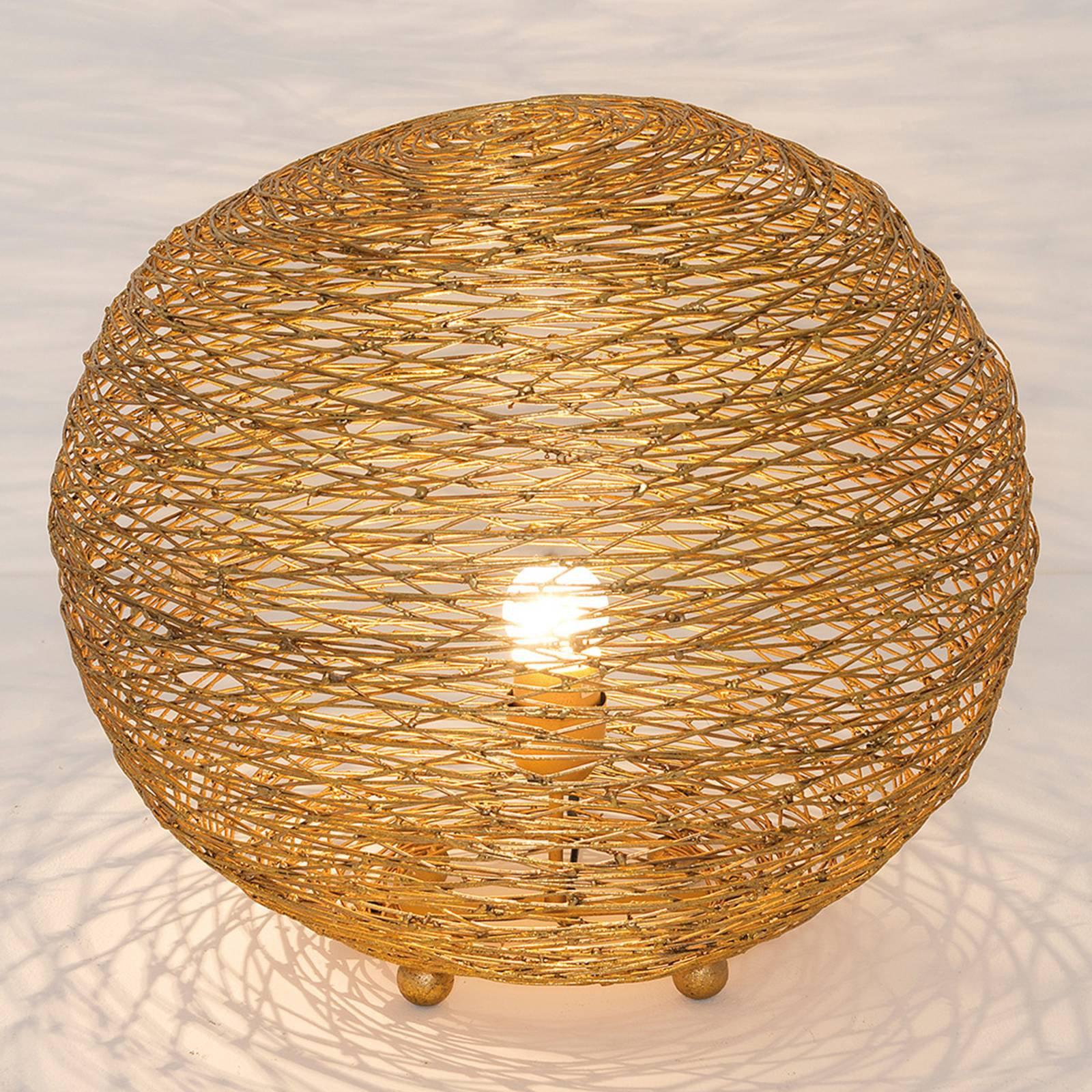 Bordlampe Campano, gull, 40 cm diameter