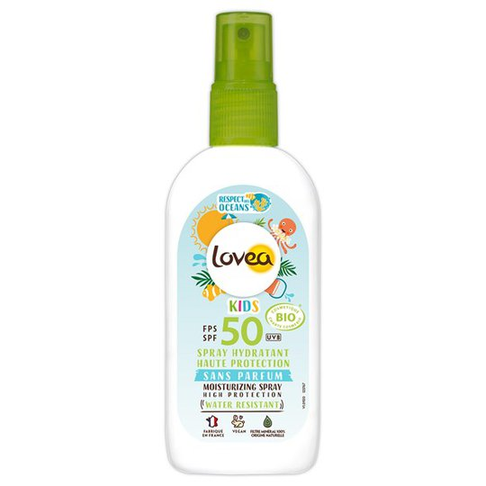 Lovea Moisturizing Sunscreen Spray SPF 50 Kids, 100 ml