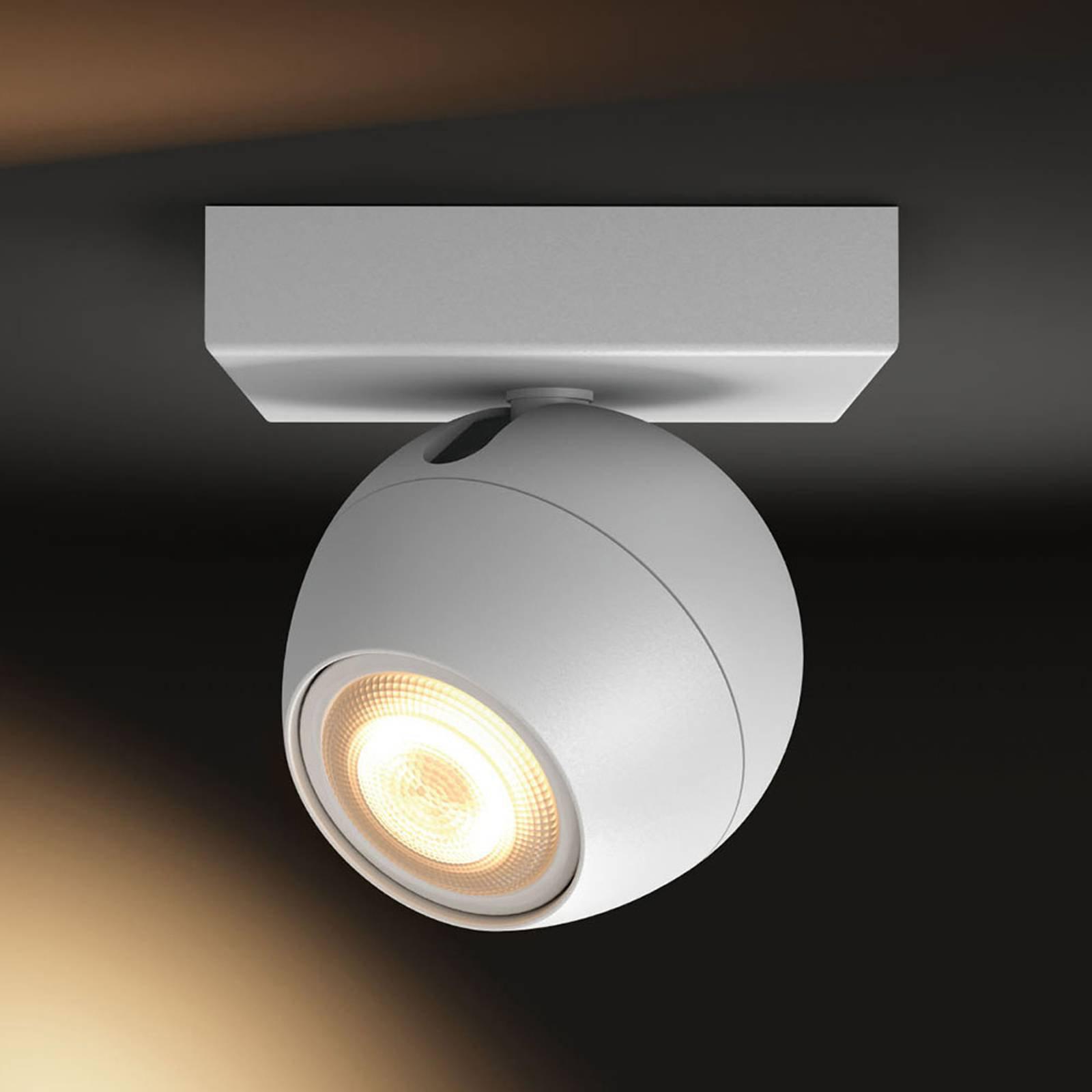 Philips Hue Buckram LED-spot i hvit forlengelse