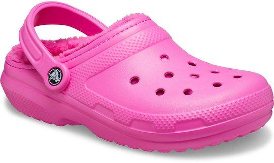 Crocs Classic Lined Clog, Electric Pink, 28-29