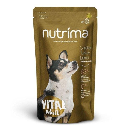 Nutrima Vital Adult Kyckling, Kalkon & Lamm 6 x 150 g
