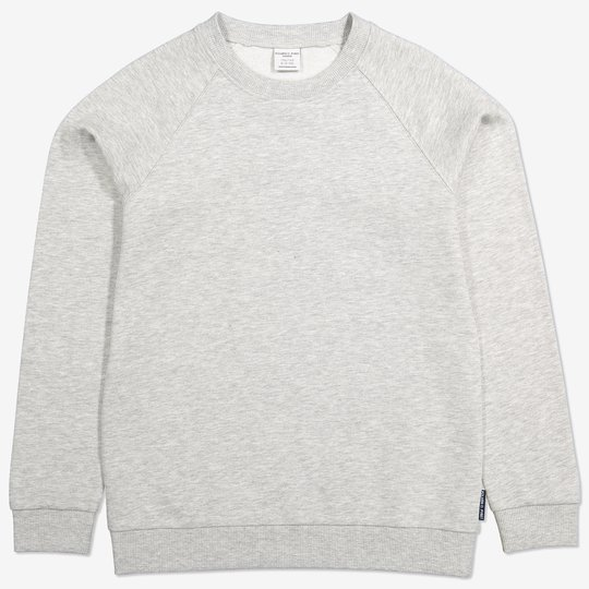 Ensfarget sweatshirt gråmelange