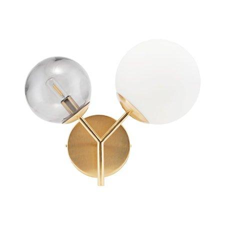 Vegglampe Twice - Messing