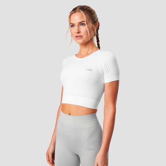 Define Seamless Cropped T-shirt, White