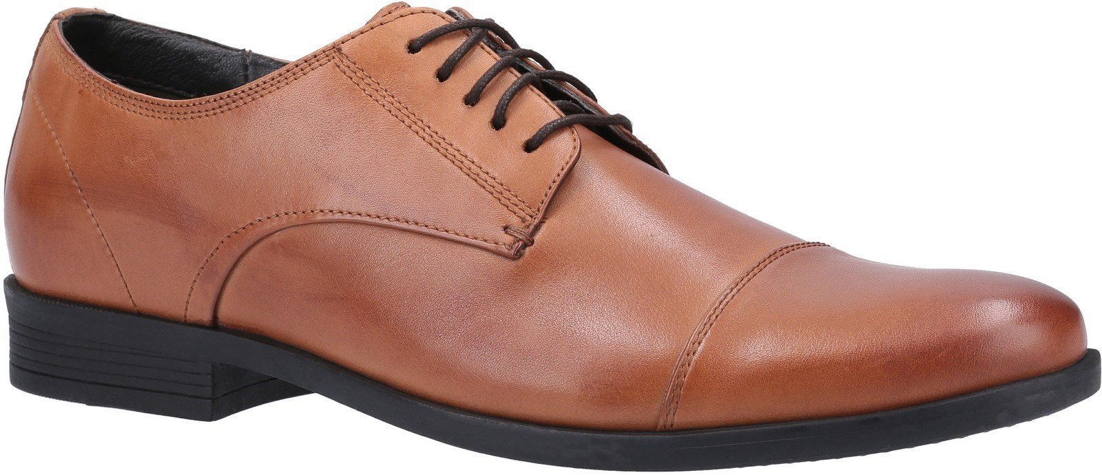 Hush Puppies Men's Ollie Cap Toe Lace Up Shoe Various Colours 29187 - Dark Brown 6