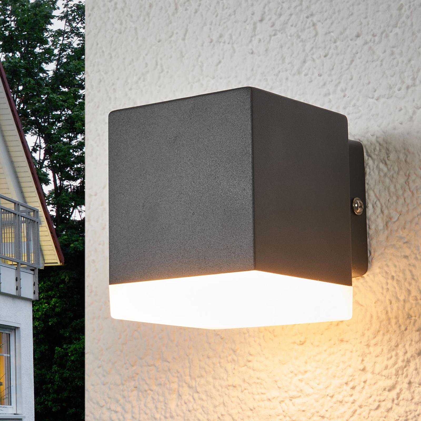 Harmaa LED-ulkoseinävalaisin Hedda