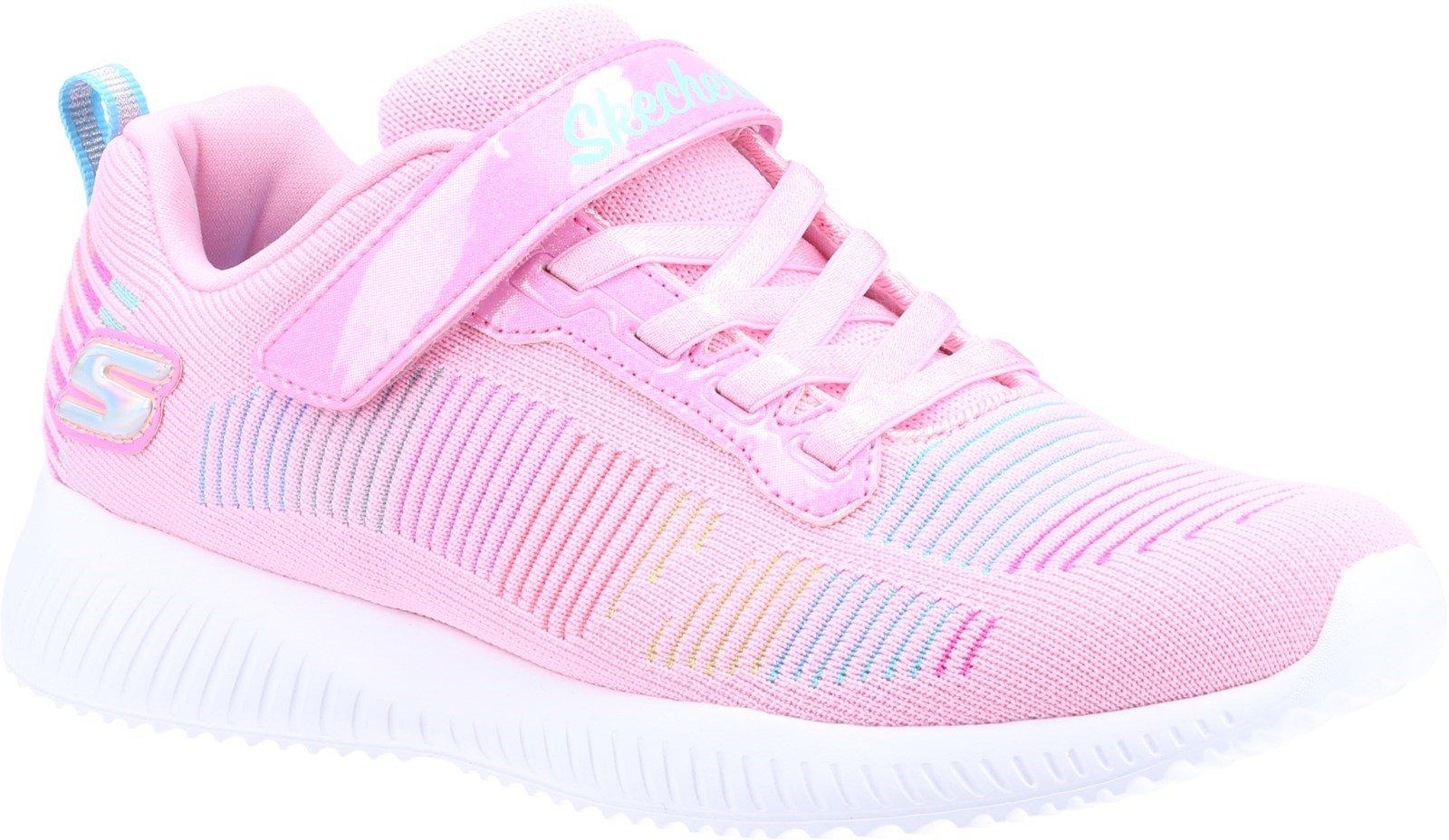 Skechers Kid's Bobs Squad Fresh Delight Sports Trainer Various Colours 32093 - Pink Mesh/Multi Trim 9.5