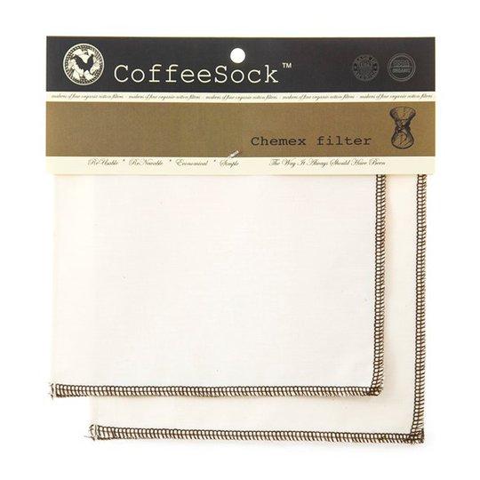 CoffeeSock Ekologiskt & Återanvändbart Kaffefilter Chemex, 2-pack