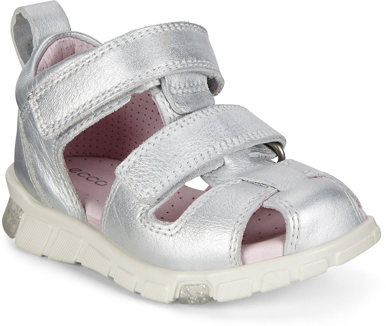 Ecco Mini Stride Sandal, Silver Metallic, 19