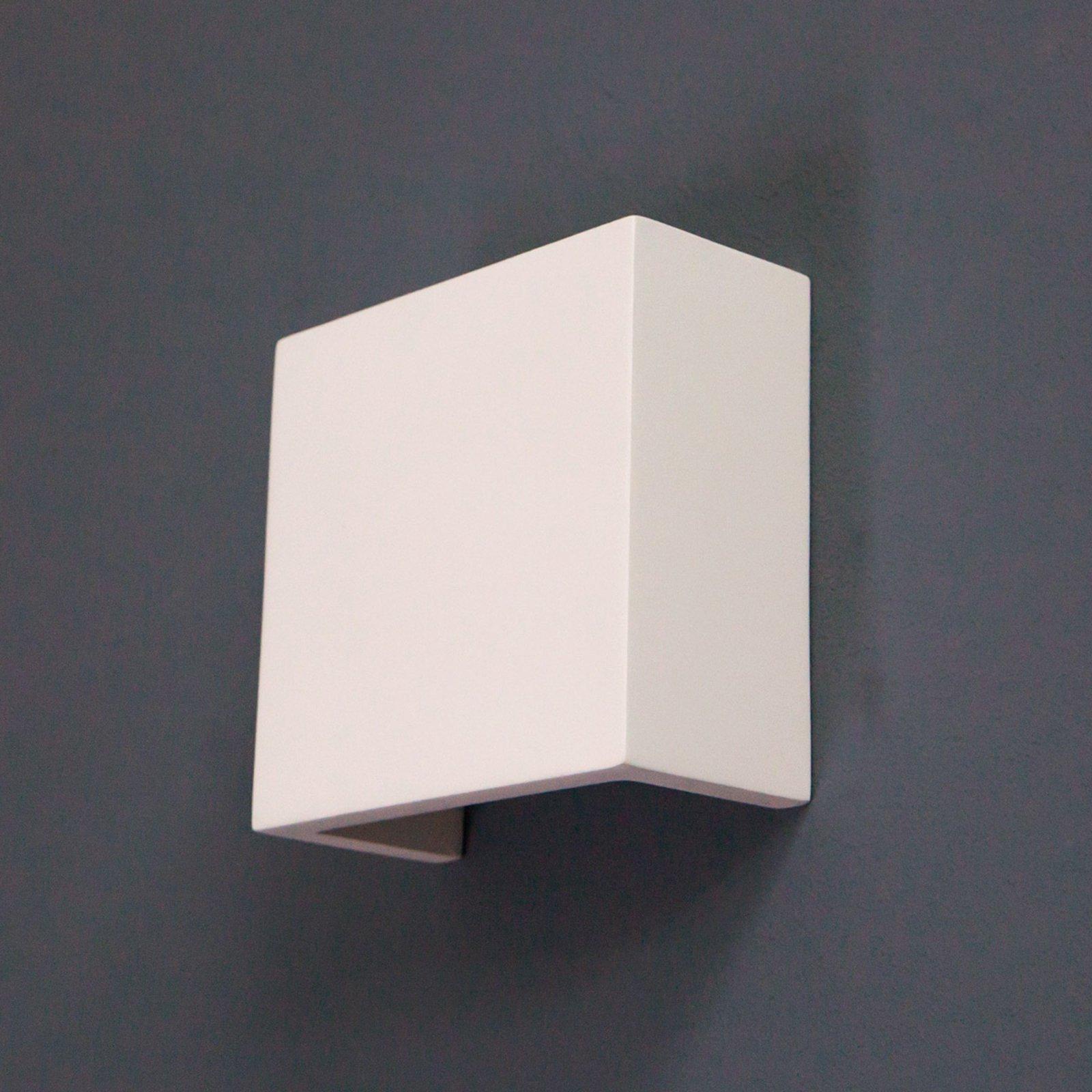 LED-vegglampe Fabiola av gips, 12,5 cm høy