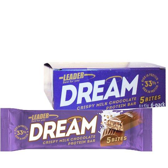 """Laatikollinen Proteiinipatukoita """"Crispy Milk Chocolate"""" 6 x 45g - 20% alennus"""