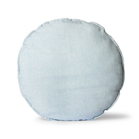 Linen Stolpute Rund ice Blue 60 cm