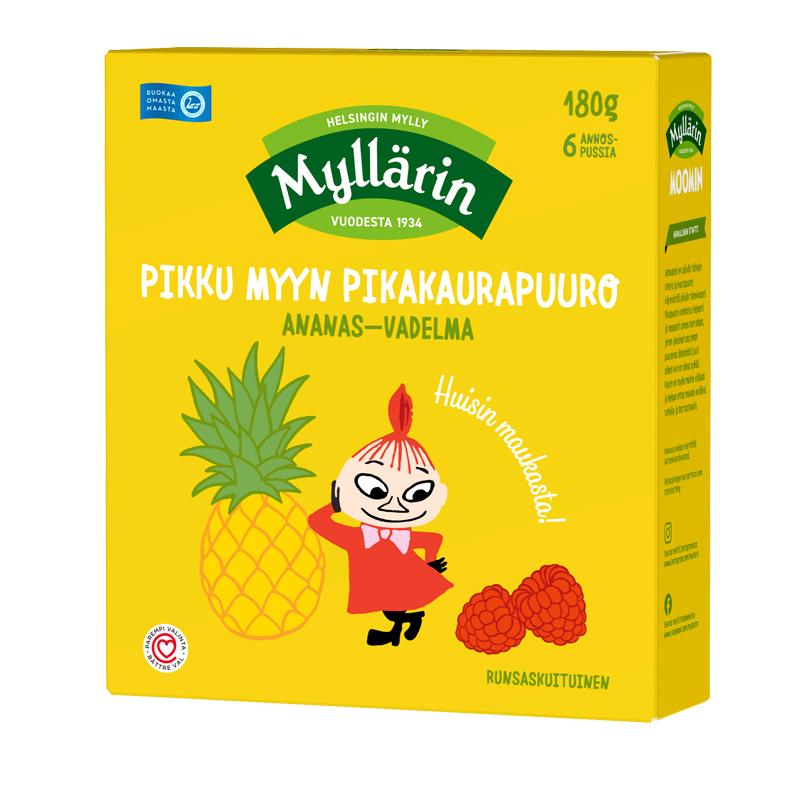 Pikakaurapuuro Ananas & Vadelma - 27% alennus