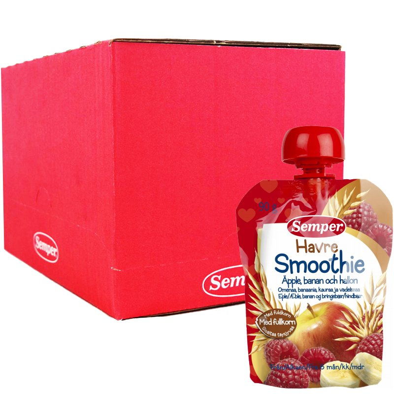 Kokonainen laatikko: Lastenruoka Kaura-Smoothie 12 x 90g - 87% alennus