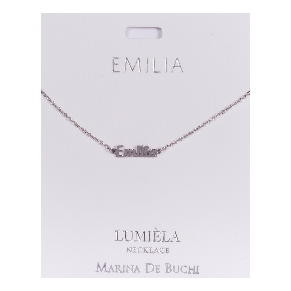 Namnhalsband Silver - Emilia