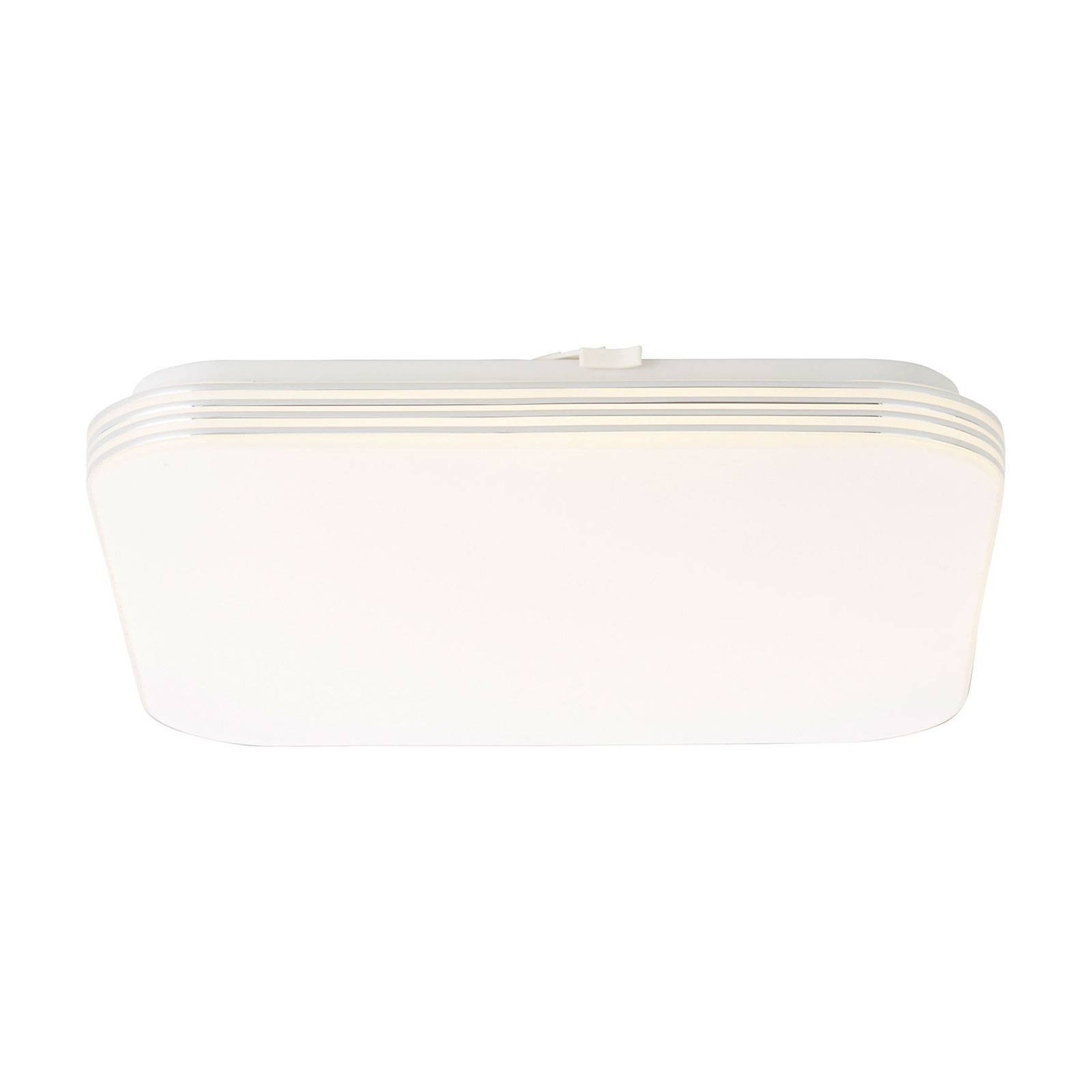 LED-taklampe Ariella hvit/krom, 34 x 34 cm