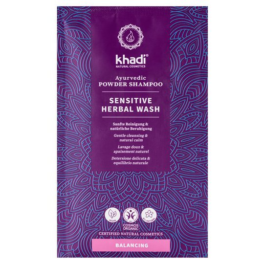 Khadi Sensitive Herbal Wash Ayurvedic Powder Shampoo, 50 g