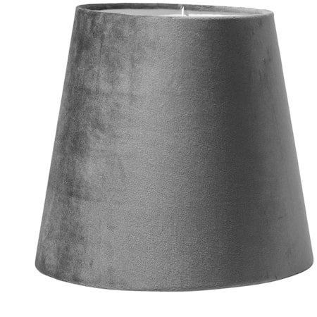 Lampeskjerm Queen Fløyel Grå