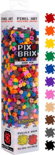 Pix Brix Byggeklosser Mørk Fargemix 1500 stk