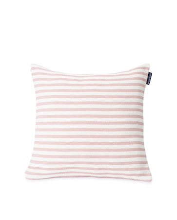 Block Striped Recycled Kuddfodral Rosa 50x50cm